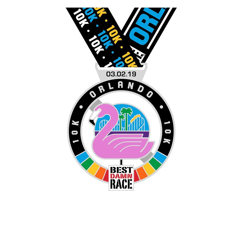 Orlando - Best Damn Race - 2018 - 5K Medal