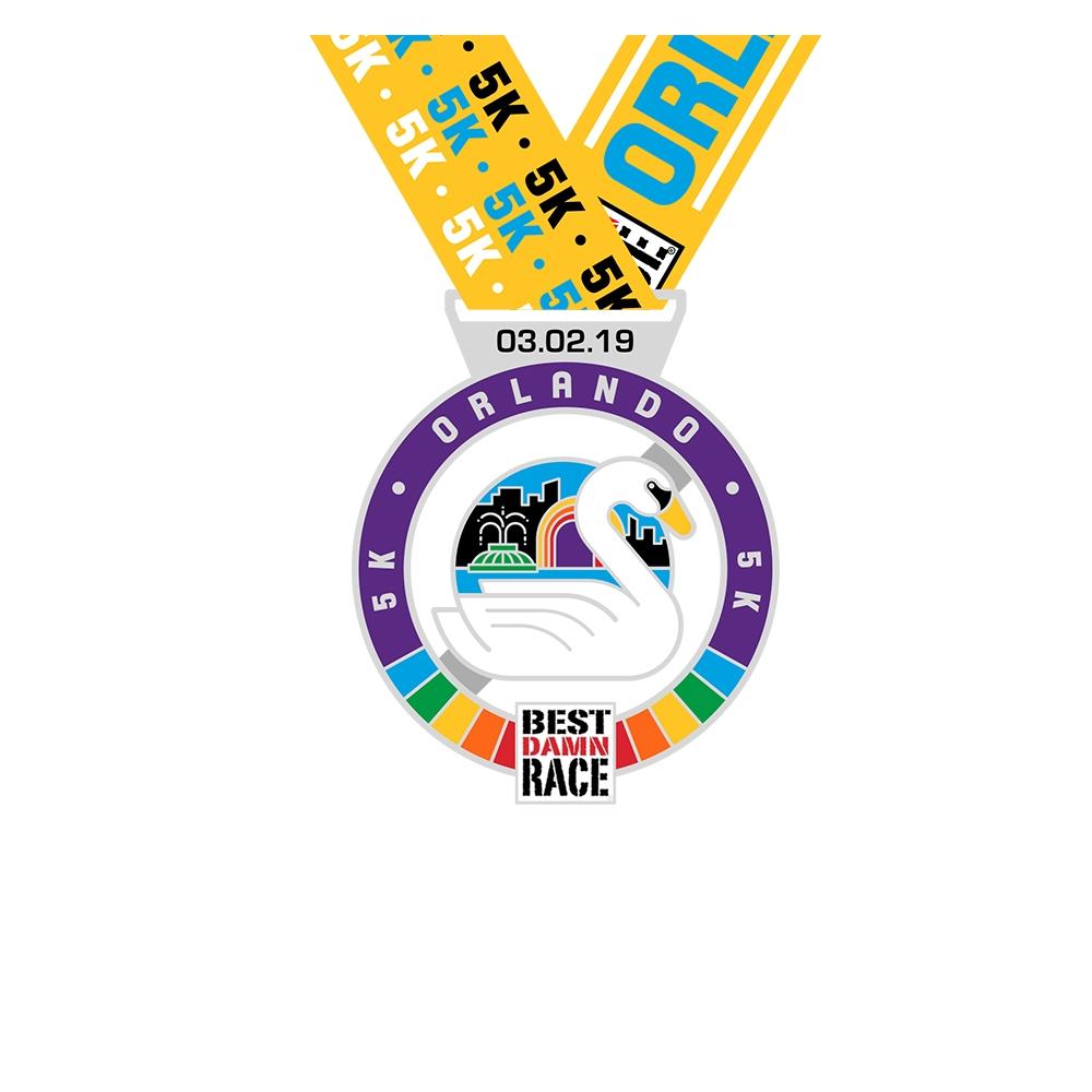 Orlando - Best Damn Race - 2018 - 10K Medal